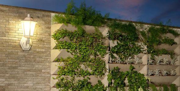 fotos jardins piscinas : fotos jardins piscinas:Empresa lançou o sistema Angle para jardins verticais, que pode ser