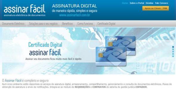 Portal permite assinatura eletrônica de documentos