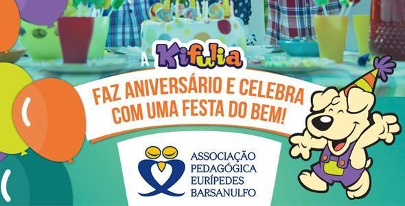 Crianças da Associação Pedagógica Eurípedes Barsanulfo – APEB recebem uma festa do bem!