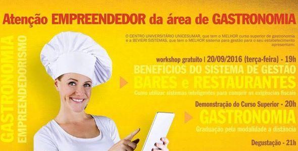 Blumenau recebe workshop para empreendedores do setor gastronômico
