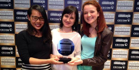Grupo Malwee recebe o pr�mio Empresas que Melhor se Comunicam com Jornalistas