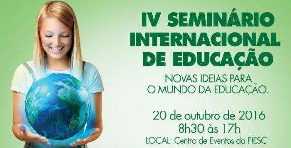 Fiesc re�ne especialistas dos EUA, Chile e Col�mbia em Semin�rio de Educa��o