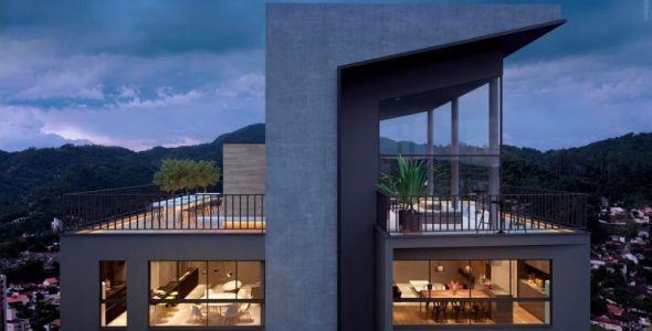 Projeto Black Apartments prioriza geometria contemporânea em Blumenau