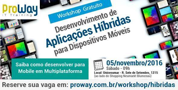 Workshop Gratuito de Desenvolvimento de Aplicações Hibridas para Dispositivos Móveis