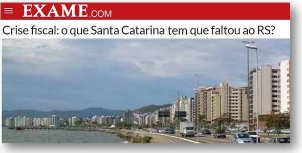 Economia de Santa Catarina tem melhores índices que do Rio Grande do Sul