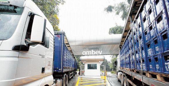 A Ambev quer compartilhar os seus caminhões