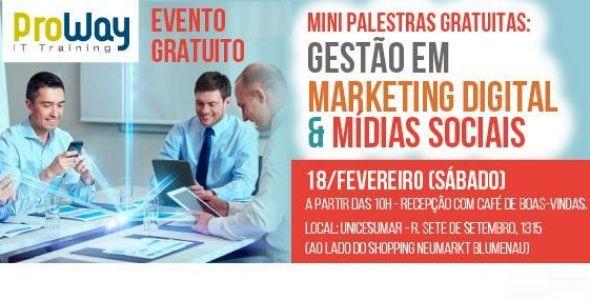 ProWay promove Mini Palestras Gratuitas em Gestão em Marketing Digital e Mídias Sociais