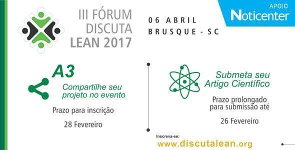 III Fórum Discuta Lean Sul ocorre em abril de 2017