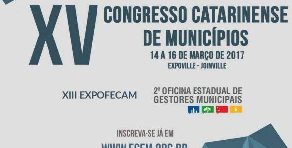 Congresso Catarinense de Municípios está com inscrições abertas