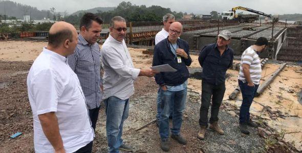 Secretário de Infraestrutura visita Brusque para vistoria