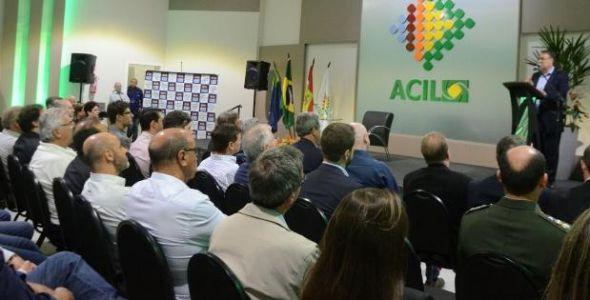 Associação Empresarial de Lages inaugura auditório com presença do governador