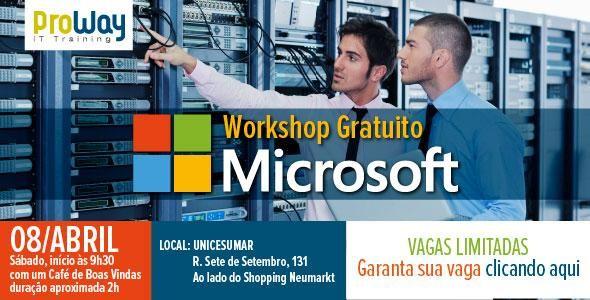 ProWay e Microservice parceiros joint venture Microsoft organizam evento gratuito