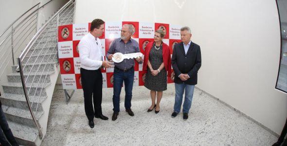 Perville Engenharia entrega nova sede do Corpo de Bombeiros Voluntários de Joinville