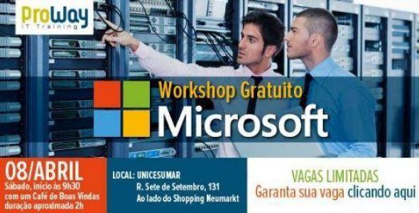 Workshop gratuito apresenta tecnologias Microsoft em Nuvem