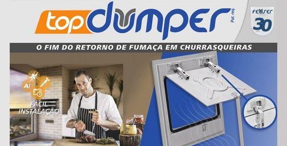 TopDumper elimina retorno de fumaça e fuligem em churrasqueiras