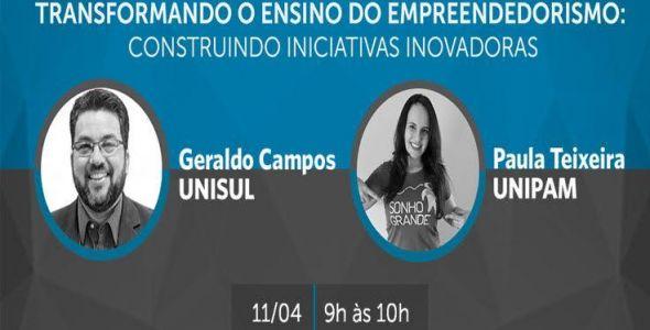Unisul apresenta webinar sobre educação empreendedora