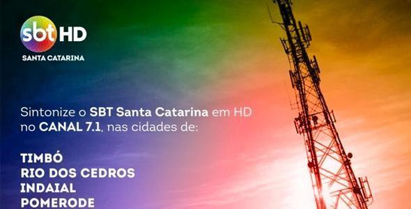 SBT SC expande o sinal digital para mais quatro cidades catarinenses