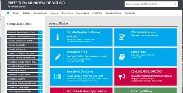 Biguaçu lança Portal de Autoatendimento para contribuintes