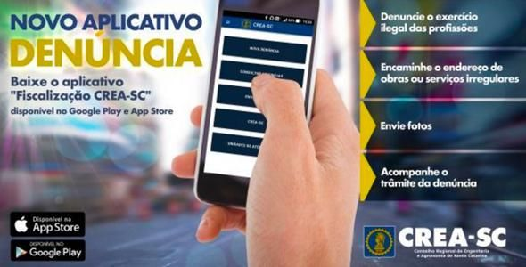 CREA-SC lança aplicativo de Denúncia do exercício ilegal da profissão