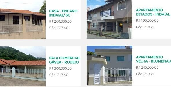Site da Viacredi apresenta oportunidades para compra de apartamentos, casas e terrenos