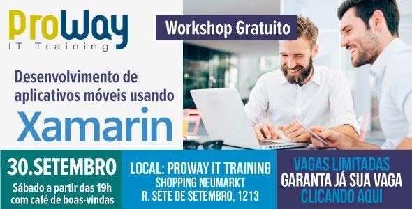 ProWay promove Workshop Gratuito Desenvolvimento de aplicativos móveis usando Xamarin