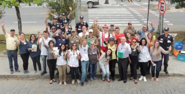 SindsegSC apoia Blitz Educativa em Blumenau
