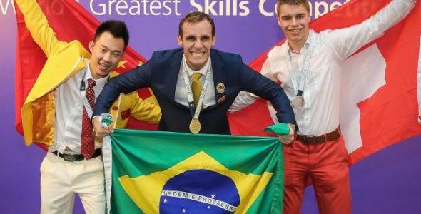 Catarinense conquista ouro no mundial de educação profissional