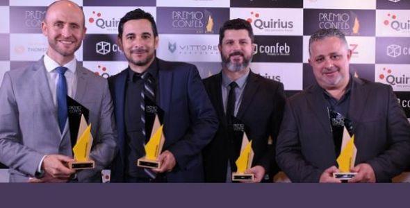 Quirius conquista cinco troféus no Prêmio Confeb 2017