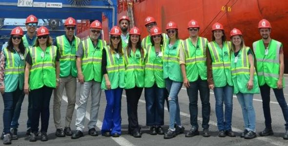 LIDE Futuro SC visita estrutura da Portonave em Navegantes