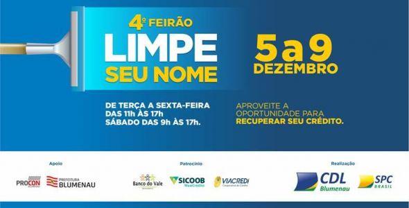 CDL Blumenau promove Feirão Limpe seu Nome