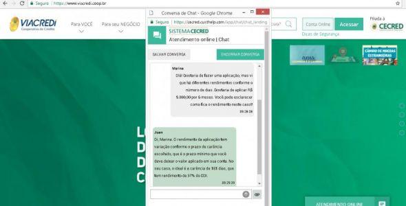 Sistema Cecred disponibiliza chat para orientações e dúvidas de cooperados