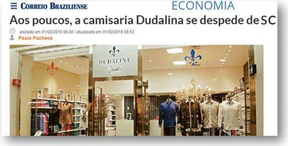 Correio Braziliense destaca saída melancólica da Dudalina de SC