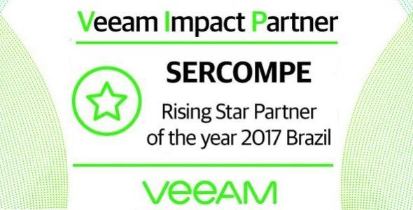 Sercompe é reconhecida como Veeam Rising Star Partner 2017