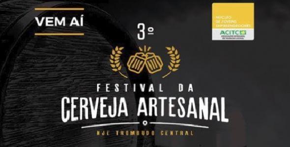 3º Festival da Cerveja Artesanal em Trombudo Central será em abril