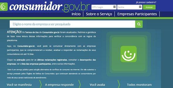 www.consumidor.gov.br funciona como Procon online