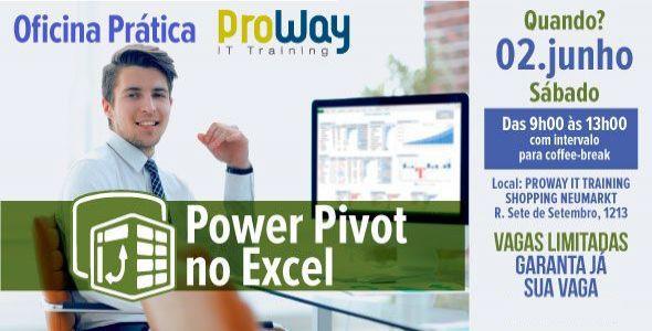 ProWay abre inscrições para a Oficina Prática de PowerPivot no Excel