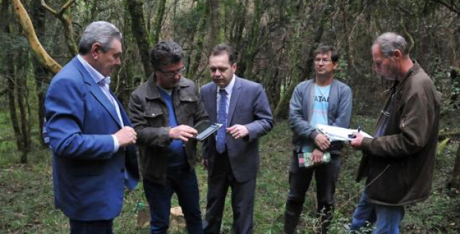 Inicia marcação do terreno onde será instalada a Berneck
