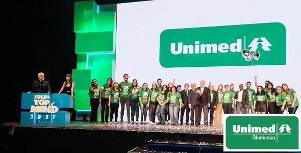 Unimed vence duas categorias do Prêmio Folha Top of Mind