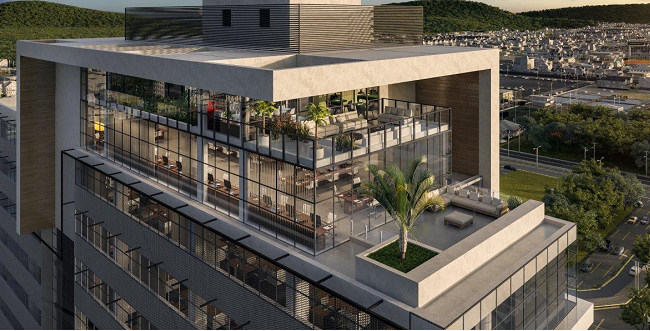 Work Town Corporate, primeiro edifício corporativo de Blumenau com roof top