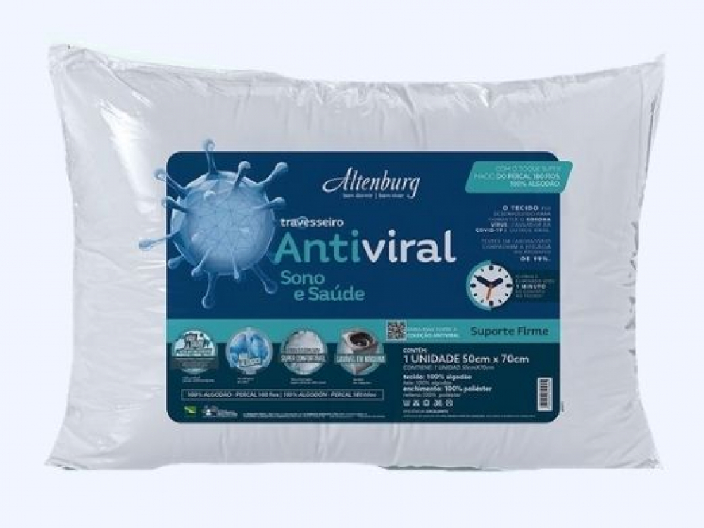 Altenburg lança primeiro travesseiro com tecnologia antiviral