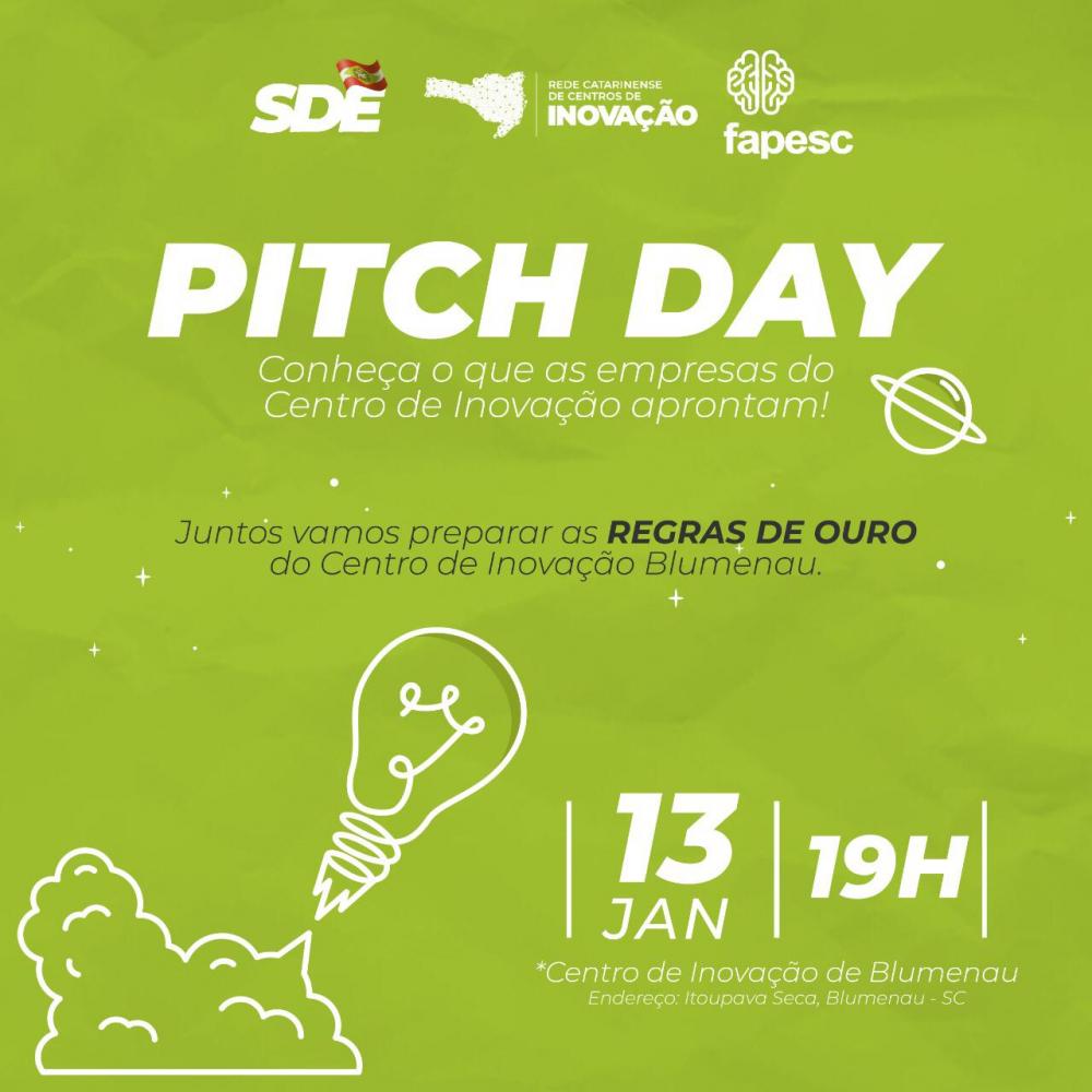 Pitch Day vai reunir todos os residentes do Centro de Inovação Blumenau