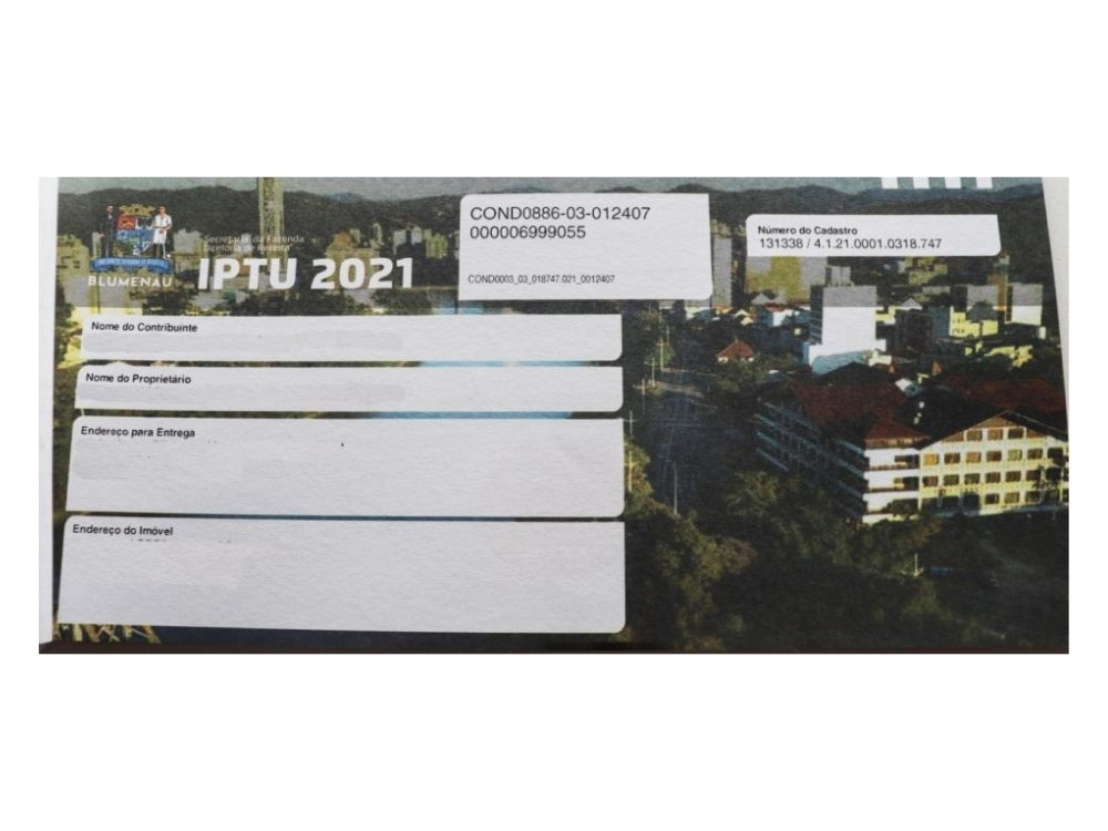 Contribuintes podem ajudar projetos sociais em Blumenau ao pagar o IPTU