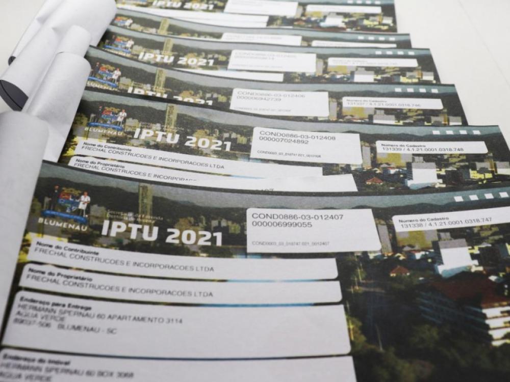Blumenau já arrecadou quase R$ 50 milhões com o IPTU 2021