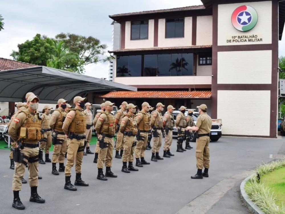 PM de Blumenau recebe reforço em operação contra a pandemia