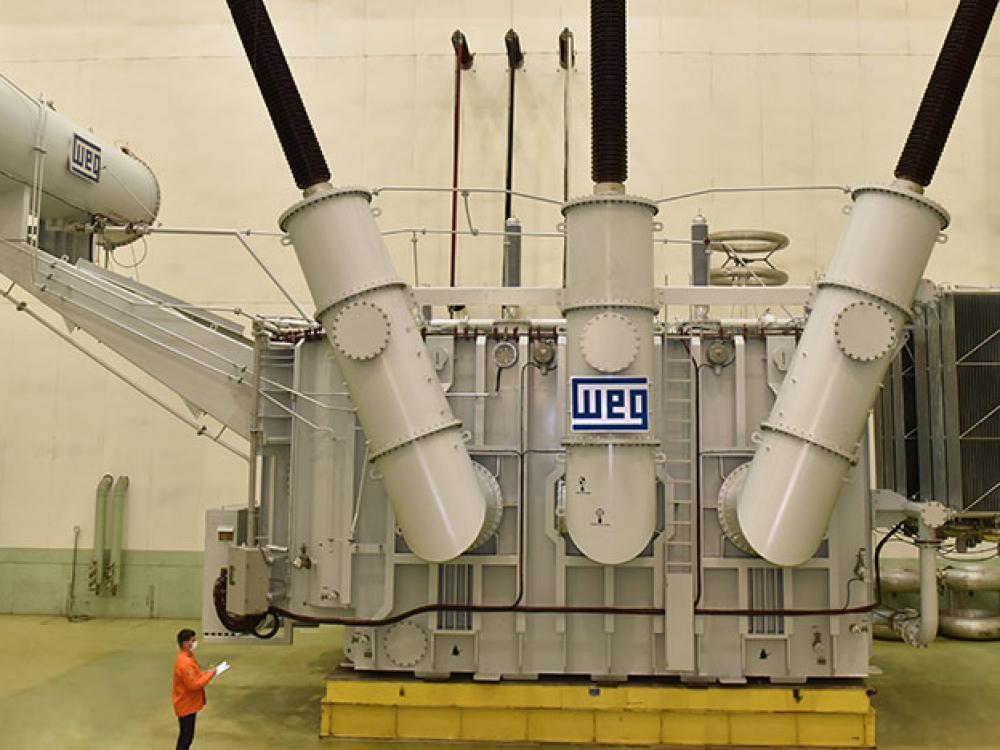 Maiores transformadores produzidos pela WEG em Blumenau, irão para o Continente Africano