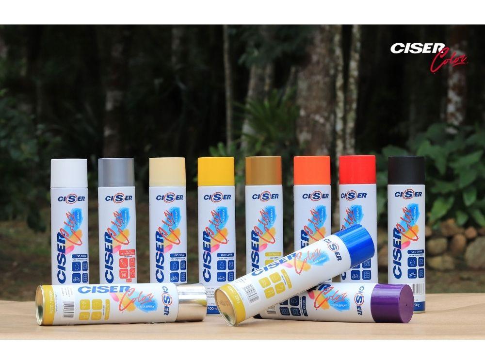Ciser lança tintas em spray para reformas e decoração