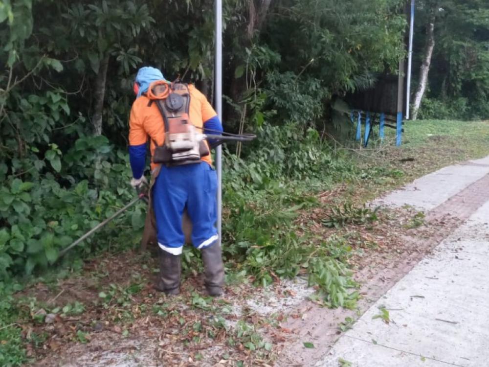 Prefeitura inicia limpeza compulsória dos passeios públicos em diversas áreas do município