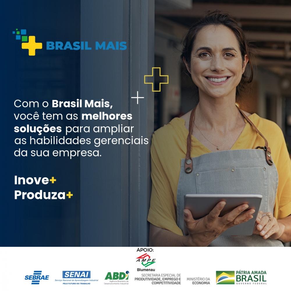 Ampe Blumenau firma parceria com o Programa Brasil Mais