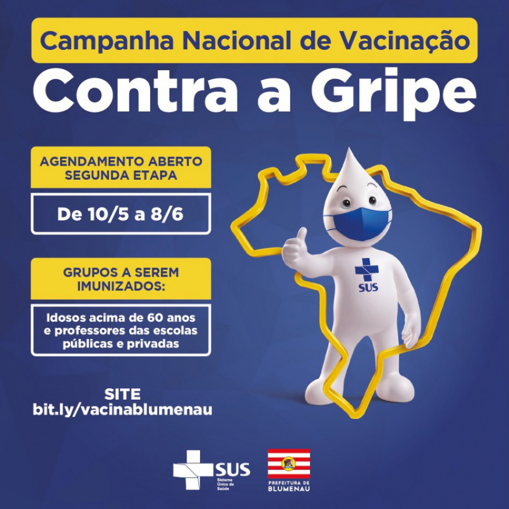 Blumenau inicia segunda etapa da Campanha de Vacinação contra a Gripe