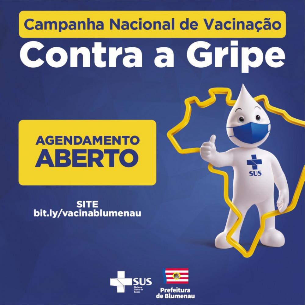 Prefeitura disponibiliza novas vagas para agendamento da vacina contra a gripe